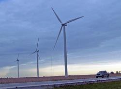 Giant windmills, part of a wind farm